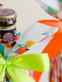 Packaging handmade para botellas